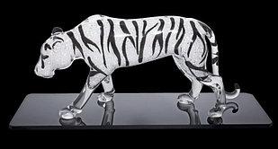 Фигурка хрустальная Белый бенгальский тигр 1160 20