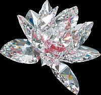 Фигурка хрустальная Цвет (розовая середина) 1025 69