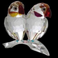 Фигурка хрустальная два попугай 0768 70