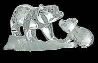 Фигурка хрустальная медведица с медвежонком 0766 10