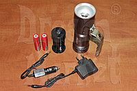 Фонарь ручной аккумуляторный SL3406, металлический, светодиодный, 4.2В, 8000 Люмен, фото 1