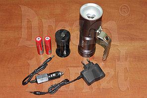 Фонарь ручной аккумуляторный SL3406, металлический, светодиодный, 4.2В, 8000 Люмен