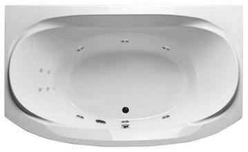 Акриловая ванна Sirakusa 190х120 см с гидромассажем. Джакузи.(Общий массаж +спина)