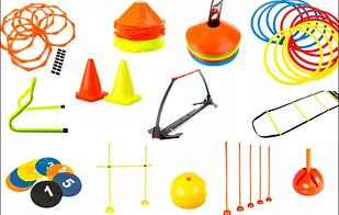 Фишки и конусы для разметки полей,насосы для мячей