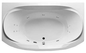 Акриловая ванна Sirakusa 190х120 см с гидромассажем. Джакузи.(Общий массаж + спина + ноги)