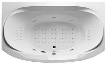 Акриловая ванна Sirakusa 190х120 см с гидромассажем. Джакузи.(Общий массаж + Nano массаж)