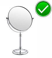 Настольное зеркало увеличительное (хром)