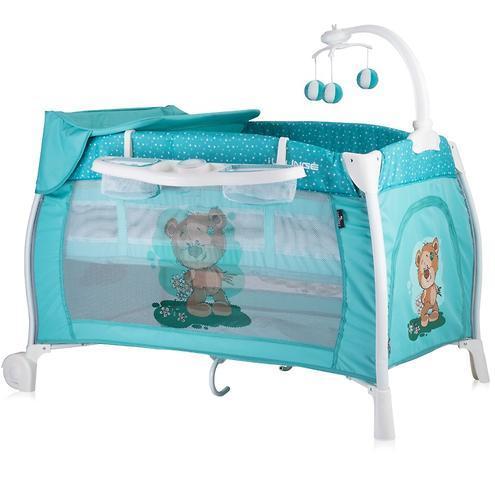 Кровать-манеж LORELLI I'LOUNGE 2 Rocker 60x120 Зеленый / Green Cute Bear 1811
