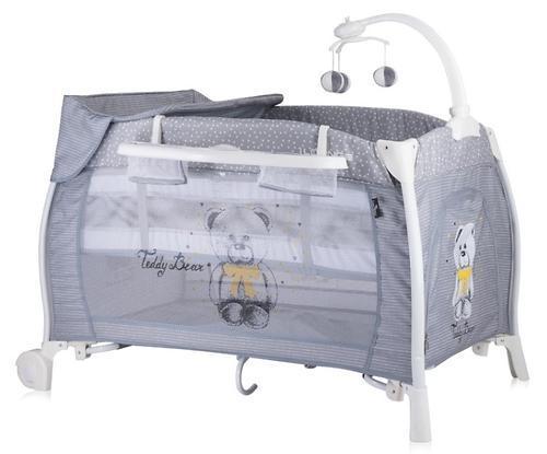 Кровать-манеж LORELLI I'LOUNGE 2 Rocker 60x120 Серый / Grey TEDDY BEAR 1812