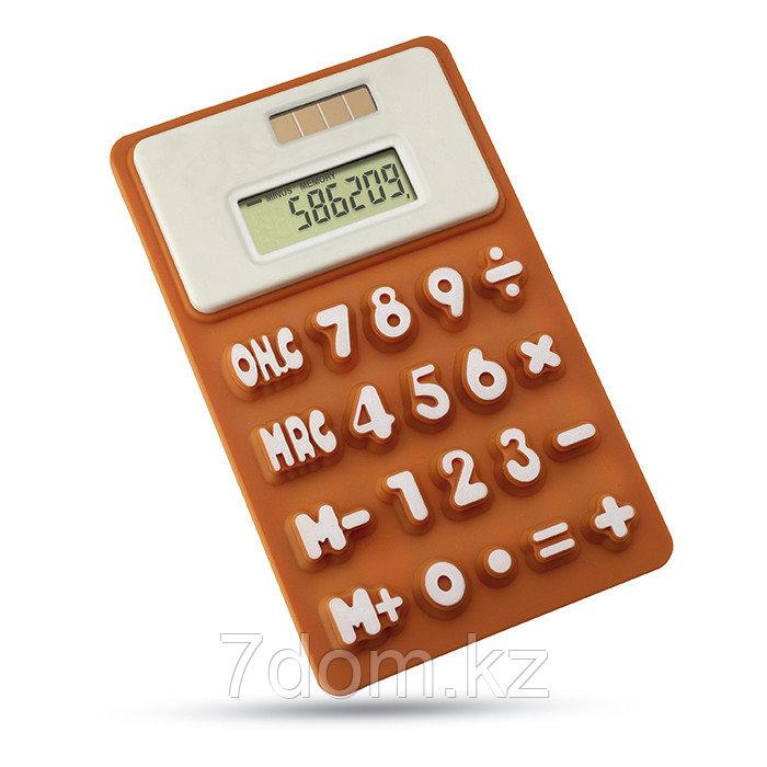 8-разрядный силиконовый калькулятор на солнечных батарейках