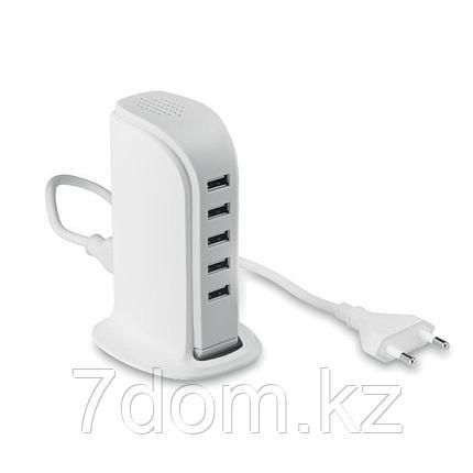 USB разветвитель 2.0 на 5 портов с АС адаптером, фото 2