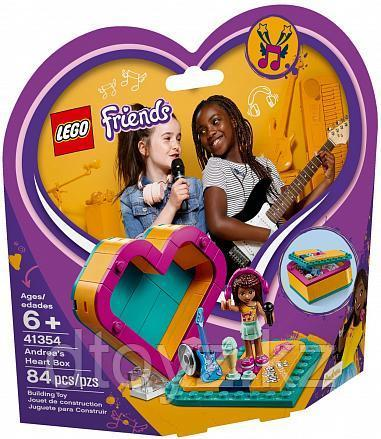 Lego Friends 41354 Шкатулка-сердечко Андреа, Лего Подружки