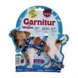 Trixie Синяя Шлейка с поводком-перестежкой 23-34 cm/8 mm (поводок 1-2м) для щенков и мелких пород собак