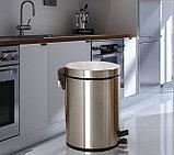 Педальная урна 12 литров (Хром)., фото 6
