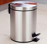 Урна металлическая с педалью 5 литров (хром), фото 1
