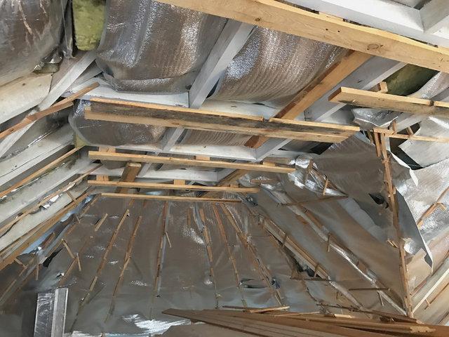 Состояние крыши до утепления пенополиуретаном.