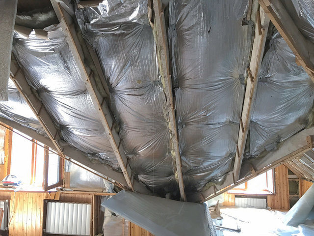 Крыша до реконструкции и утепления пенополиуретаном.