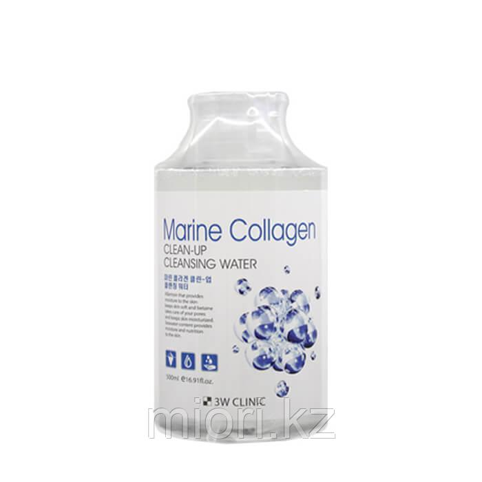 Очищающая вода 3W Clinic Marine Collagen Clean-Up Cleansing Water