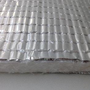 Мат Ekowool M1F1- материал облицован с одной стороны кремнеземной тканью, с другой стороны алюминиевой фольгой, фото 2