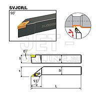 Резец со сменными пластинами (державка) для наружной токарной обработки 16x16 мм