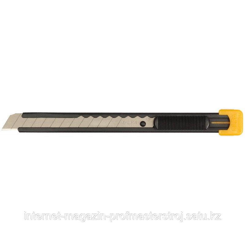 Нож с выдвижным лезвием, металлический корпус, 9 мм, OLFA