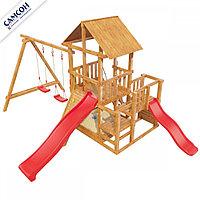 Детская игровая площадка Сибирика с двумя горками , фото 1