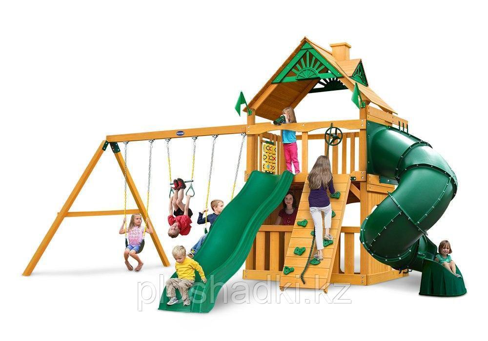"""Игровой комплекс """"Пионер"""", скаладром, канатная сетка, штурвал, телескоп, песочница, качели"""