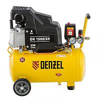 Компрессор воздушный DK1500/24,Х-PRO 1,5 кВт, 230 л/мин, 24 л, Denzel, 58063, фото 1