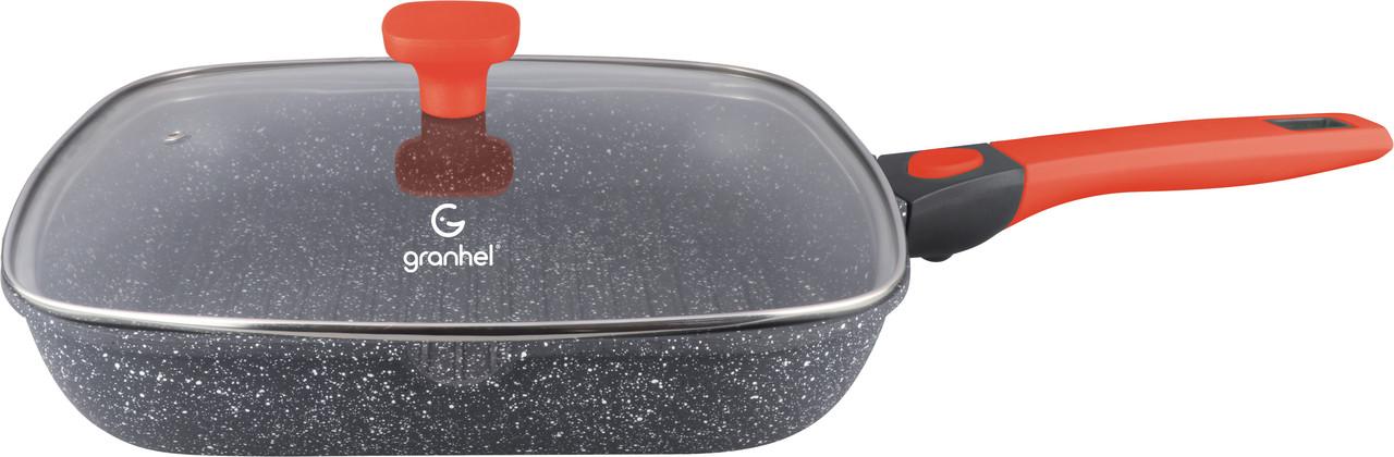 Гриль-сковорода с крышкой granhel Luxurious Series 28x28x5,5 см 2,0 л