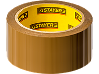 Лента клейкая упаковочная, 48 мм x 60 м, коричневая, STAYER