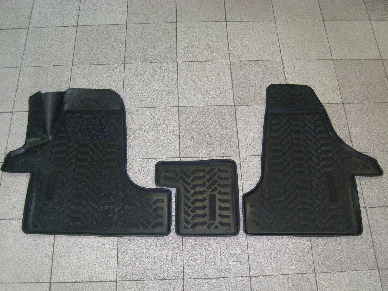 Коврики в салон Volkswagen T5/6 Transporter, Caravelle. Multivan (2003-) салон (передние) (3D с подпятником)