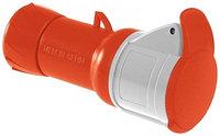 Кабельная розетка винт.32А 2Р+Е IP44 220В /PKF32M423/