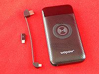 Портативный мобильный аккумулятор Wopow PW12 10000mAh беспроводная зарядка