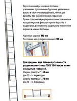 Раздвижная лестница TOPIC 1048 с усиленными продольными брусьями