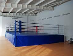 Ринг боксерский с помостом 5 х 5 высота 1 м (боевая зона 4м х 4м)