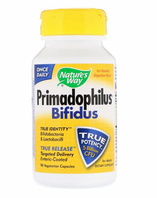 Nature's Way, Primadophilus, бифидобактерии, для взрослых.