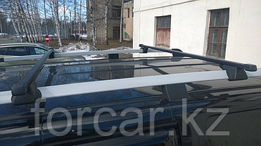 """Багажная система """"LUX"""" КЛАССИК с дугами 1,1м прямоугольными в пластике для а/м с рейлингами, фото 3"""