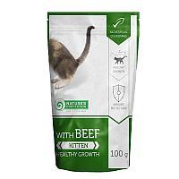 Влажный корм для котят Nature's Protection Kitten with Beef Healthy Growth с говядиной (паучи)