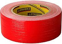 Лента клейкая армированная влагостойкая, 50 мм x 10 м, красная, серия PROFESSIONAL, STAYER