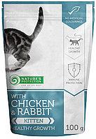 Влажный корм для котят Nature's Protection with Chicken & Rabbit Kitten Healthy Growth с курицей и кроликом