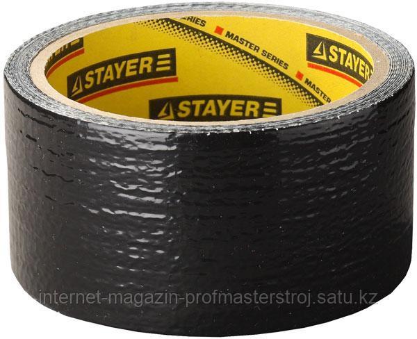 Лента клейкая армированная влагостойкая, 50 мм x 10 м, черная, серия PROFESSIONAL, STAYER
