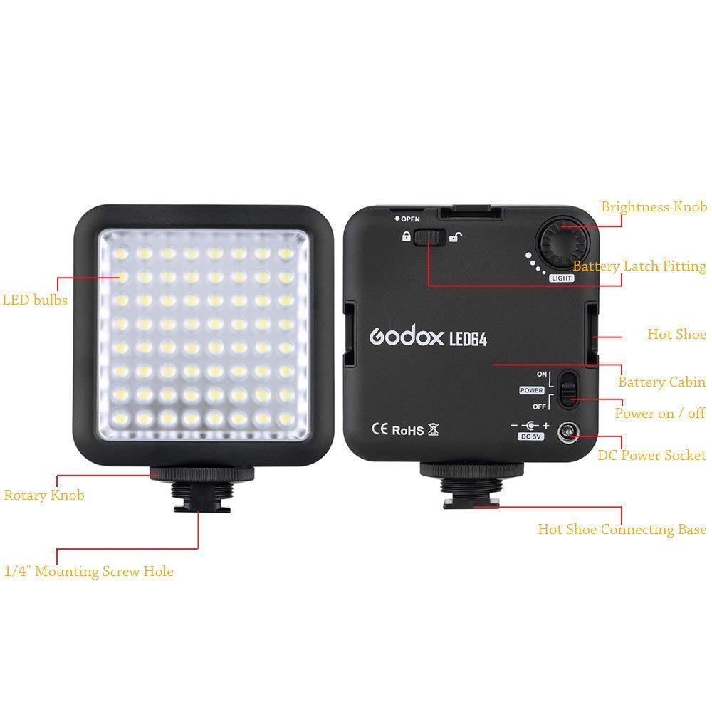 LED-64 Godox Накамерный прожектор