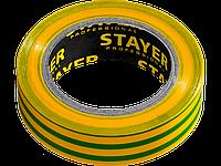 Изолента ПВХ, 15 мм x 10 м, желто-зеленая, PROTECT-10, STAYER