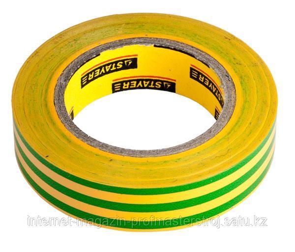 Изолента ПВХ, 15 мм x 10 м, желто-зеленая, серия MASTER, STAYER