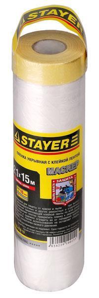Пленка защитная с клейкой лентой Masker, 9 мкм, 2.4 x 15 м, серия Professional, STAYER