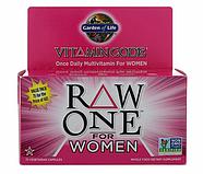 Garden of Life, Vitamin Code, Raw One, мультивитаминная добавка из сырых ингредиентов для женщин, фото 3
