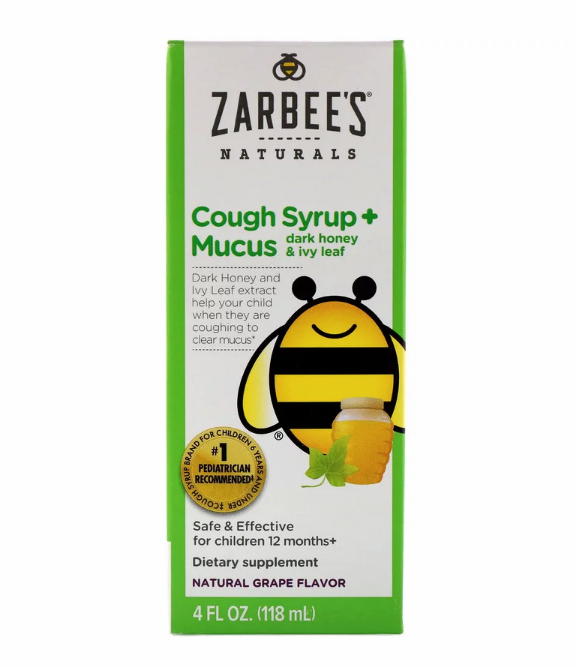 Zarbee's, Naturals, детский сироп от кашля + от слизи