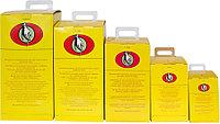 Контейнеры для безопасной утилизации использованных шприцев, игл и прочих медицинских отходов.