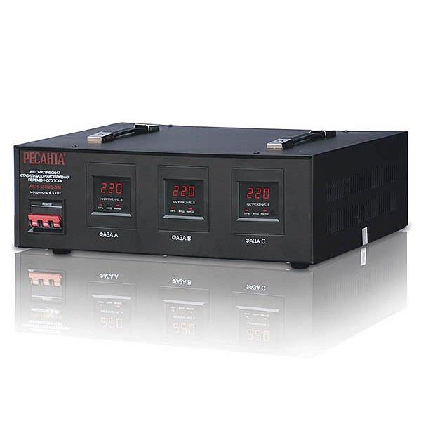 Стабилизатор напряжения  РЕСАНТА ACH-4500/3  ЭМ