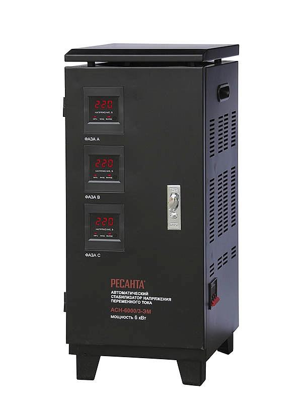 Стабилизатор напряжения  РЕСАНТА ACH-9000/3  ЭМ